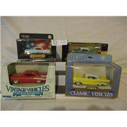 6 N.I.P Chevrolet 1957 Miniature Car Models