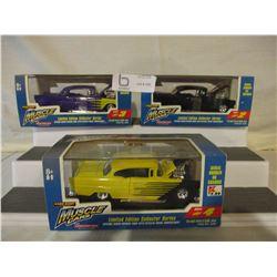 6 N.I.P Chevrolet 1950s Miniature Car Models