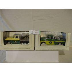 2 N.I.B Chevrolet 1957 John Deere Truck Models