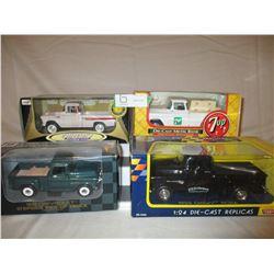 4 N.I.B Chevrolet 1950s Truck Models
