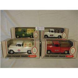 4 N.I.B Chevrolet 1955 Truck Banks