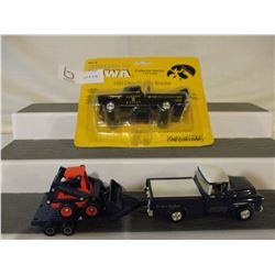 Chevrolet 1955 Tow Truck and 1957 Chevrolet Truck and Skid Steer Trailer