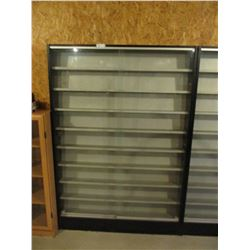 """Floor Display Showcase with Sliding Glass Doors 8"""" by 48"""" by 70"""" T"""