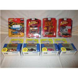 8 N.I.P Chevrolet Miniature Johnny Lightning Cars