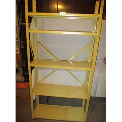 """Gold Metal Shelf Unit 11"""" by 11"""" by 73"""" T"""