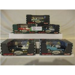 5 N.I.B Chevrolet Gear Box Coll. Series Cars
