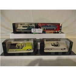 4 N.I.B Pontiac 1957 Bonneville Cars 1/43 Scale