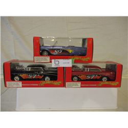 3 N.I.B Chevrolet 1957 Hot Rods