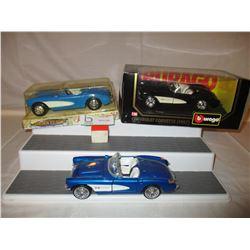 3 Chevrolet 1957 Corvette Models