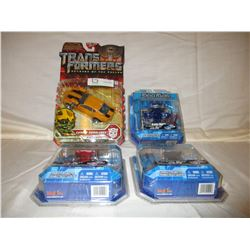 4 N.I.P Transformer Bumble Robot and Other Car Robots