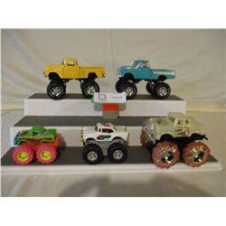 5 Chevrolet Miniature Monster Custom Trucks