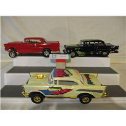 4 N.I.B Chevrolet 1957 Custom Hot Rod Kits and Race Car