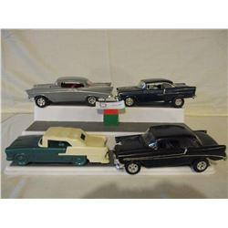 4 Chevrolet 1957 Plastic Car Kits and Avon Car