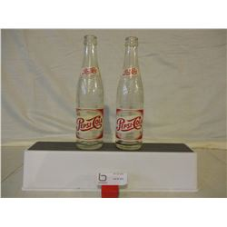 2 Vintage Pepsi Cola Bottles