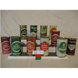 11 Assorted 1960's POP Cans