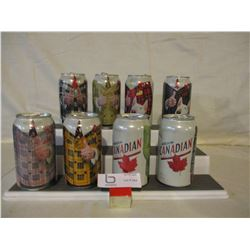 Assorted Molson Don Cherry and Team Canada Pepsi Collector Cans