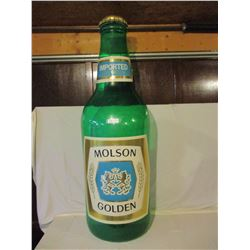"Molson Export Store Plastic Display Bottle 62"" T"