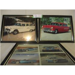 """3 Chevrolet 1950s Nomad Framed Picture 9.5"""" by 12"""""""