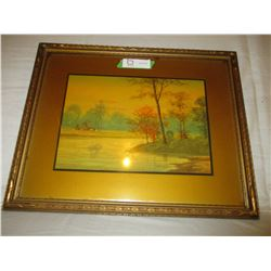 """Frame Water Color Nature Painting 16"""" by 19"""""""