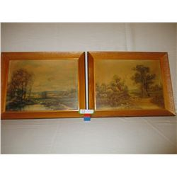 """Pair of Nature Paintings 15"""" by 19"""""""
