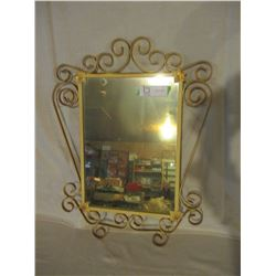 """Wire Framed Decorative Hall Mirror 16"""" by 21"""""""