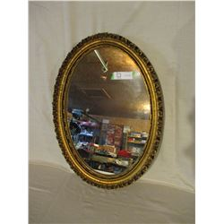 """Oval Framed Hall Mirror 16.5 by 22.5"""""""