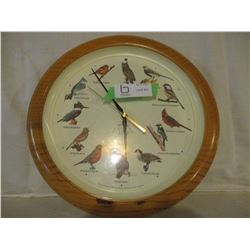 Round Battery Operated Bird Sound Clock