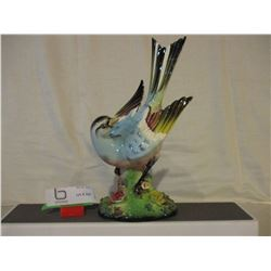 """Painted Japanese Song Bird Ornament 12"""" T"""