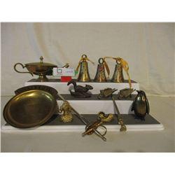 Assortment of Decorative Brassware