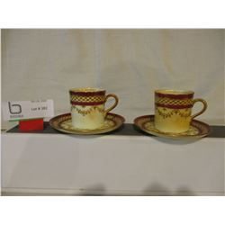 Pair of Aynsley English China Expresso Cups and Saucers