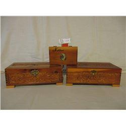 3 Wooden Decorative Boxes