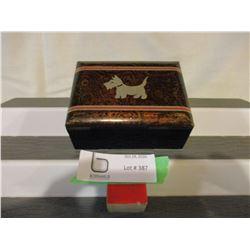 """Inlaid Scotty Storage Box 4"""" by 5"""""""