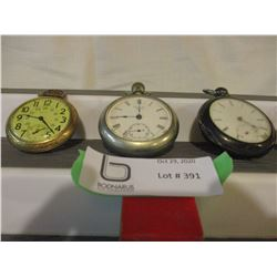 4 Old Pocket Watches (Not Working)