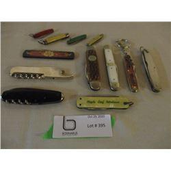 12 Vintage Jack Knife Assortment