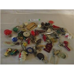 Assorted 1950s Plastic Key Chain and Animal Toy Collection