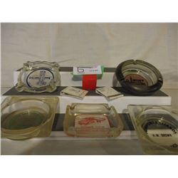15 Assorted Vintage Advertising Ash Trays