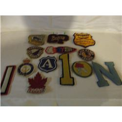 Assorted Vintage Sports Patches