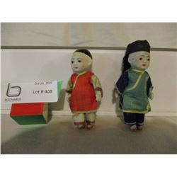 """Pair of Chinese Porcelain Figurines 4"""" T"""