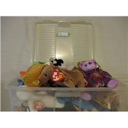 Plastic Container of Beanie Babies