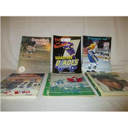 18 Saskatoon Blades Programs and Rough Riders Magazines