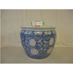 Large Porcelain Flower Pot (No Cracks or Chips)
