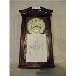 N.I.B Mahogany Finish Cabinet Clock