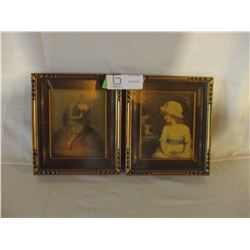 """Pair of Young Girl Pictures 6.5"""" by 7.5"""""""