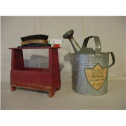Watering Can and Wooden Shoe Shine Kit