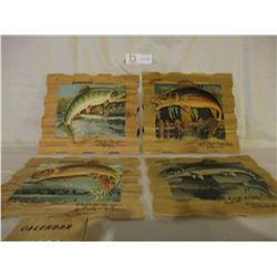 4 1958 Evinrud Motors Saskatoon Dealer Fish Calendars
