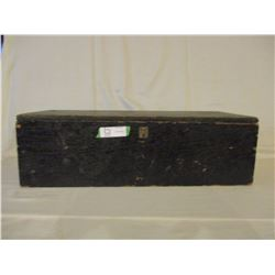 "Black Wooden Storage Box 11"" by 7.5"" by 25"" L"