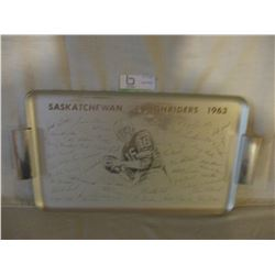 "Saskatchewan Roughriders 1963 Team Photograph Tray 10"" by 19"""