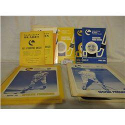 16 Saskatoon Blades 1970s Game Programs