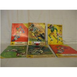 7 1960s Saskatchewan Roughriders Game Programs