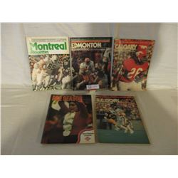 5 1960s CFL Team Magazines